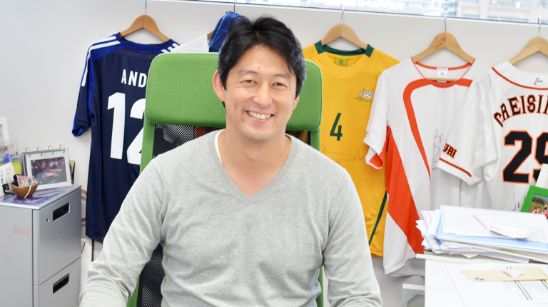 「スポーツビジネスに情熱を傾ける。原動力はスポーツ界への恩返し」レピュコムジャパン 代表取締役社長 秦英之の写真